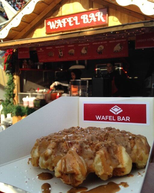 The Wafel Bar is an absolutely delicious way to enjoy the Toronto Christmas Market.