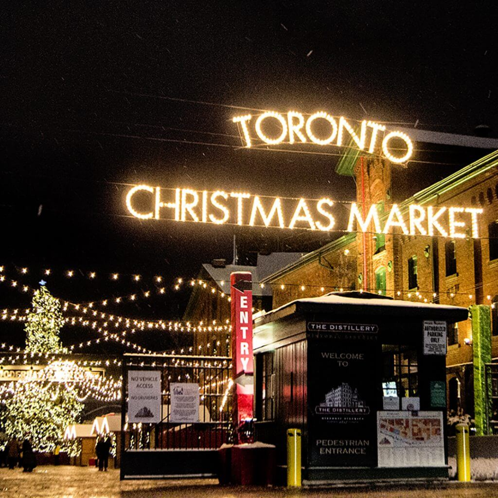 The Toronto Christmas Market Entrance at Trinity and Parliament Streets.