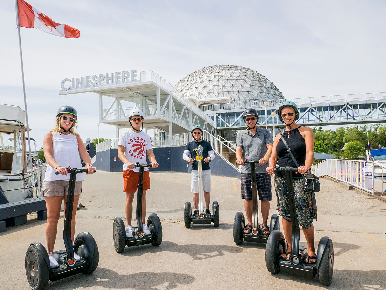 The Go Tours Canada Ontario Place Segway Tour is an incredible experience. Explore the Cinesphere and surrounding Ontario Place grounds on the fun and easy to learn Segway!
