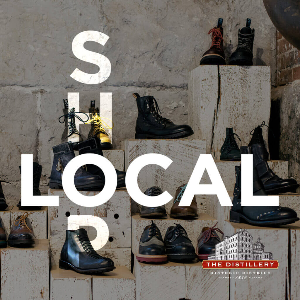 Shop local in the Distillery District during Summer 2020 and take advantage of deals from many small businesses in the neighbourhood.